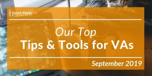 Tools, Tips, and Treats for Living the VA Life, September 2019